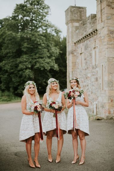 Bridesmaids in Sheike Dresses
