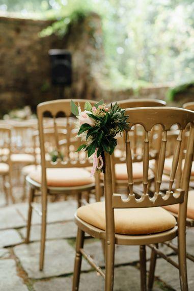 Aisle Chair Back Floral Decor | The Lou's Photography
