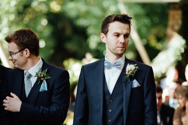 Groomsmen in Herbie Frogg Suits | Liberty Print Ties | The Lou's Photography