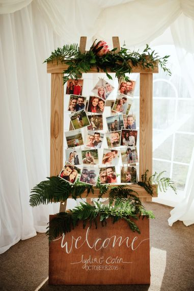 Wooden Polaroid Picture Wedding Decor | The Lou's Photography