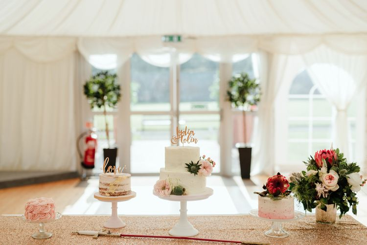 Wedding Cake Dessert Table by The Little Cupcakery NI | The Lou's Photography