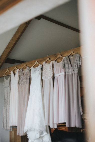 Bridal Party Dresses   Country Wedding at Farmers Barns, Rosedew Farm, Cardiff   Grace Elizabeth Photography and Film