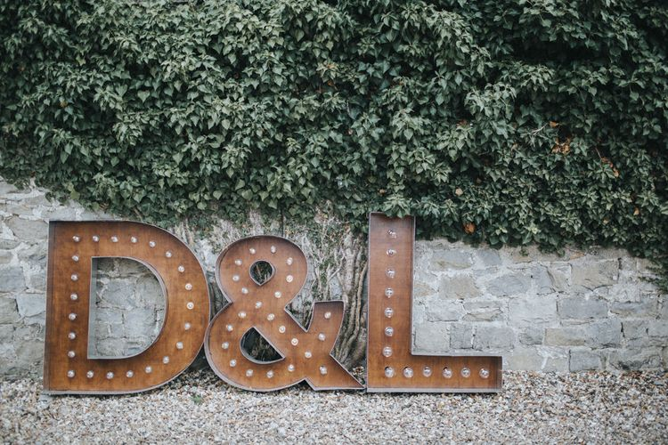 Giant DIY Letters   Country Wedding at Farmers Barns, Rosedew Farm, Cardiff   Grace Elizabeth Photography and Film