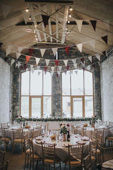 Bunting Wedding Decor   Country Wedding at Farmers Barns, Rosedew Farm, Cardiff   Grace Elizabeth Photography and Film