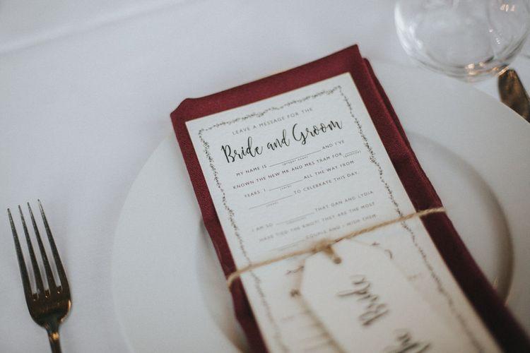 Wedding Stationery   Country Wedding at Farmers Barns, Rosedew Farm, Cardiff   Grace Elizabeth Photography and Film