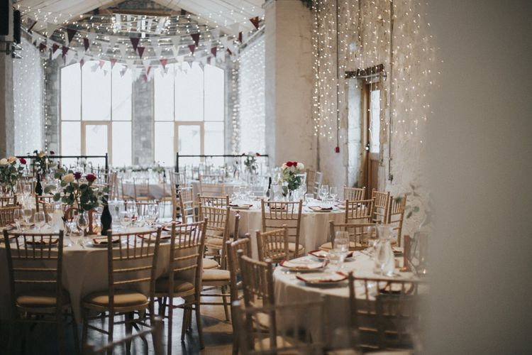 Bunting & Fairy Light Wedding Decor   Country Wedding at Farmers Barns, Rosedew Farm, Cardiff   Grace Elizabeth Photography and Film