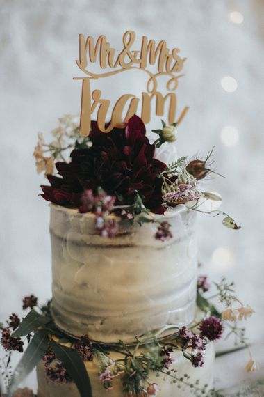 Cake Topper   Country Wedding at Farmers Barns, Rosedew Farm, Cardiff   Grace Elizabeth Photography and Film