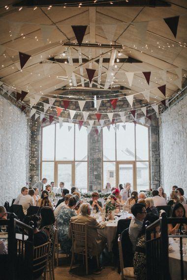 Wedding Reception   Bunting Decor   Country Wedding at Farmers Barns, Rosedew Farm, Cardiff   Grace Elizabeth Photography and Film