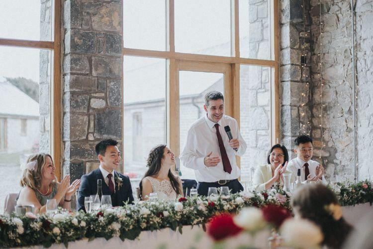 Wedding Speeches   Country Wedding at Farmers Barns, Rosedew Farm, Cardiff   Grace Elizabeth Photography and Film