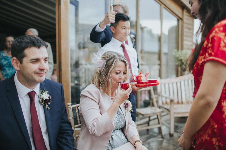 Chinese Tea Ceremony   Country Wedding at Farmers Barns, Rosedew Farm, Cardiff   Grace Elizabeth Photography and Film