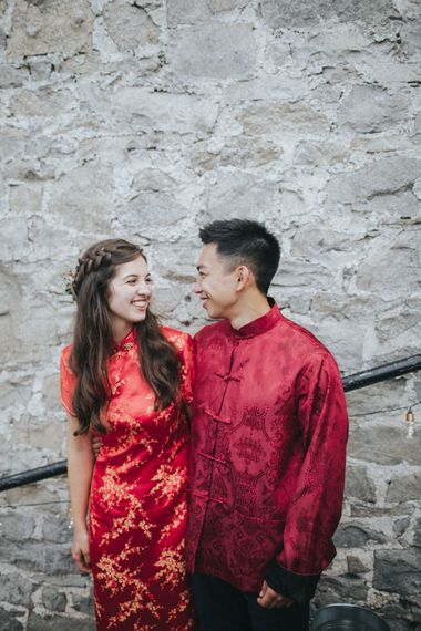 Traditional Chinese Attire for Tea Ceremony   Country Wedding at Farmers Barns, Rosedew Farm, Cardiff   Grace Elizabeth Photography and Film
