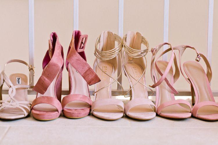 Pink Hued Wedding Shoes | Jewel Coloured Spanish Wedding Planned & Styled by Rachel Rose Weddings | Anna Gazda Photography