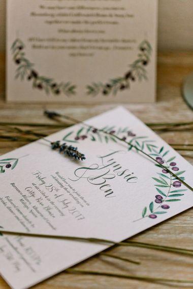 Craft Paper Wedding Stationery | Jewel Coloured Spanish Wedding Planned & Styled by Rachel Rose Weddings | Anna Gazda Photography
