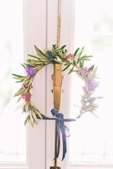 Flower Crown | Jewel Coloured Spanish Wedding Planned & Styled by Rachel Rose Weddings | Anna Gazda Photography