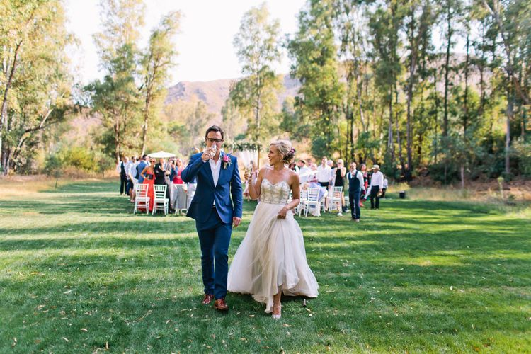 Bride in Catherine Deane 'Freya' Gown | Groom in Reiss Suit | Jewel Coloured Spanish Wedding Planned & Styled by Rachel Rose Weddings | Anna Gazda Photography