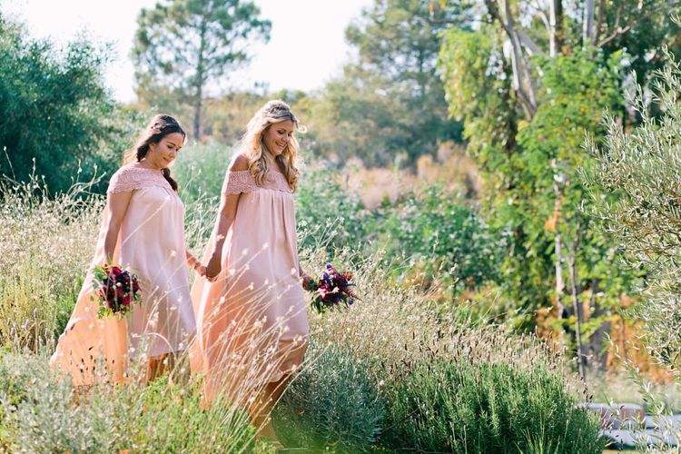 Bridesmaids in Highstreet Dresses | Jewel Coloured Spanish Wedding Planned & Styled by Rachel Rose Weddings | Anna Gazda Photography