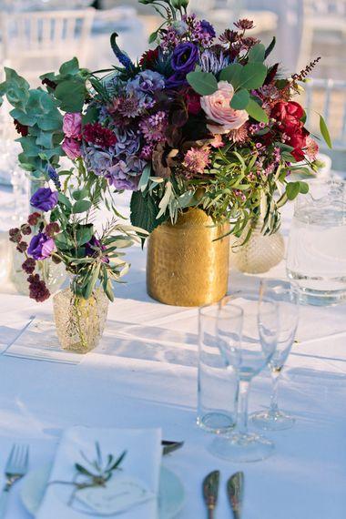 Deep Pink & Purple Wedding Flowers | Jewel Coloured Spanish Wedding Planned & Styled by Rachel Rose Weddings | Anna Gazda Photography