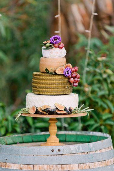 Cheese Tower Wedding Cake | Jewel Coloured Spanish Wedding Planned & Styled by Rachel Rose Weddings | Anna Gazda Photography