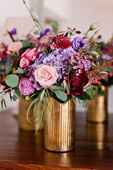 Bright Pink & Purple Wedding Flowers | Jewel Coloured Spanish Wedding Planned & Styled by Rachel Rose Weddings | Anna Gazda Photography