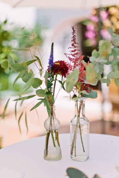 Flower Stems in Vases | Jewel Coloured Spanish Wedding Planned & Styled by Rachel Rose Weddings | Anna Gazda Photography