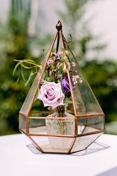 Terrarium Wedding Decor | Jewel Coloured Spanish Wedding Planned & Styled by Rachel Rose Weddings | Anna Gazda Photography