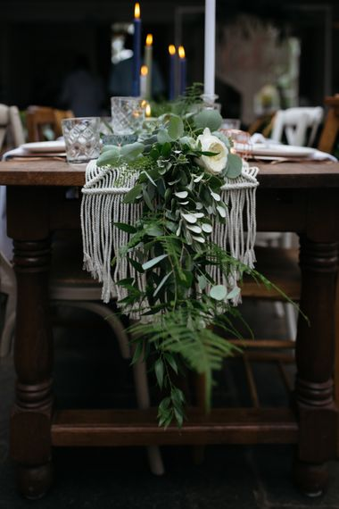 Macrame & Feathers For A Boho Wedding At The Kedleston Derby With Succulents & Foliage Details And Images By Magda K Photography