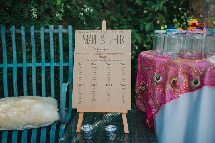 Table Plan | Bright DIY Back Garden Wedding | Lisa Webb Photography | Bright DIY Back Garden Wedding | Lisa Webb Photography