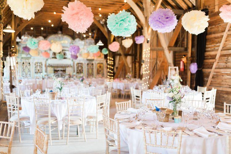 Pom Pom Wedding Decor