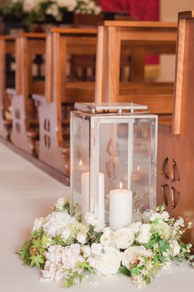 Aisle Decor White Wedding Flowers With Candles