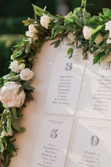 Table Plan With Fresh Flowers