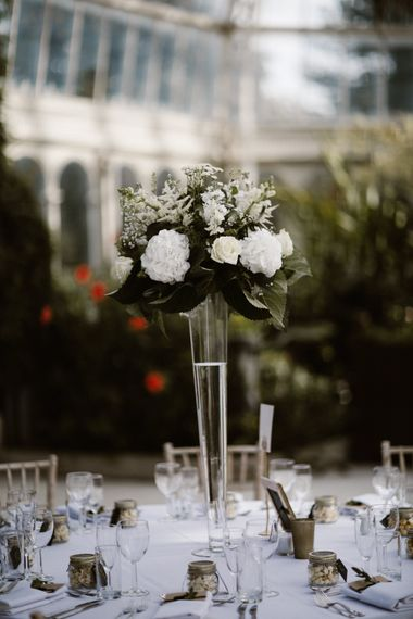 Tall White Floral Centrepieces