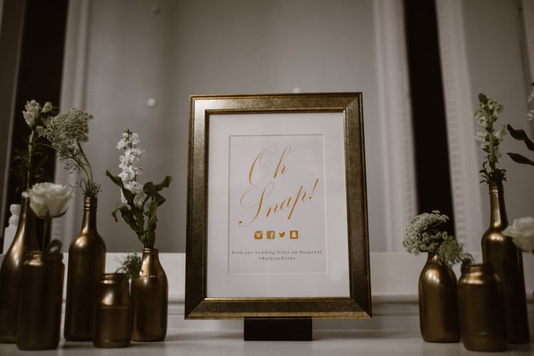 Gold & White Wedding Decor