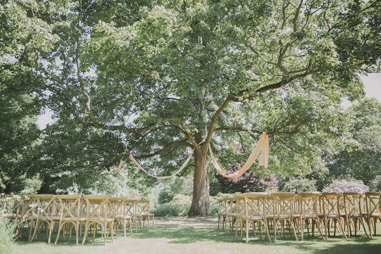 Outdoor Peach Wedding at Courteenhall House in Northamptonshire Planned by Your Story Events | Ferri Photography