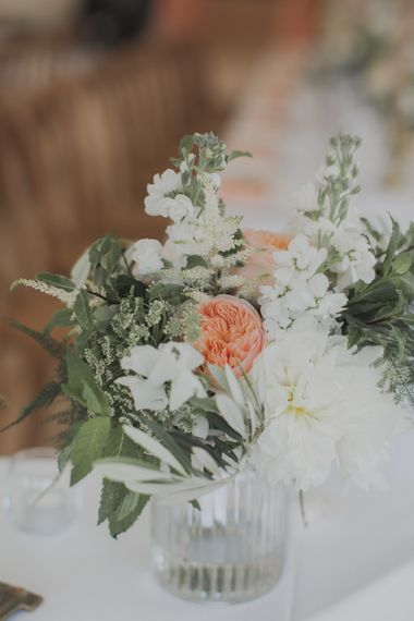 Peach & White Flowers | Outdoor Peach Wedding at Courteenhall House in Northamptonshire Planned by Your Story Events | Ferri Photography