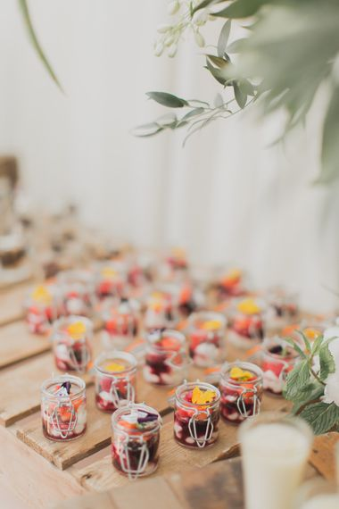 Miniture Desserts | Outdoor Peach Wedding at Courteenhall House in Northamptonshire Planned by Your Story Events | Ferri Photography