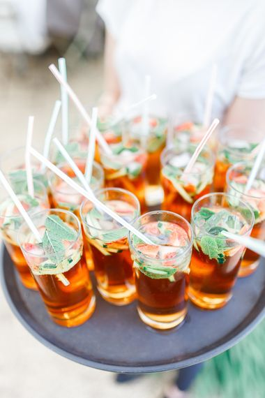 Pimms | Secret Garden Reception at Castle Cottage Cafe, Oakham | White Stag Wedding Photography
