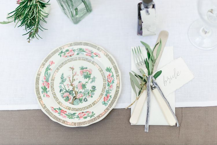 Place Setting | Secret Garden Reception at Castle Cottage Cafe, Oakham | White Stag Wedding Photography
