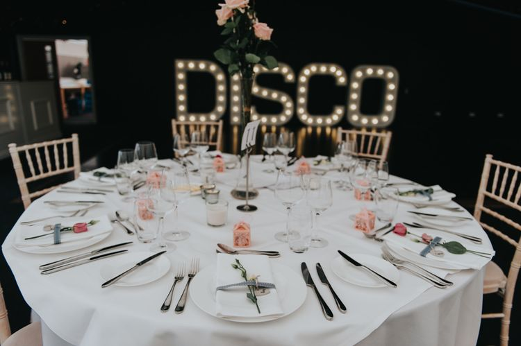 Tablescape | Classic Marquee Reception at Chippenham Park | Eliza Claire Photography