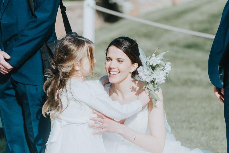 Bride in Sophia Tolli Bridal Gown | Classic Marquee Reception at Chippenham Park | Eliza Claire Photography