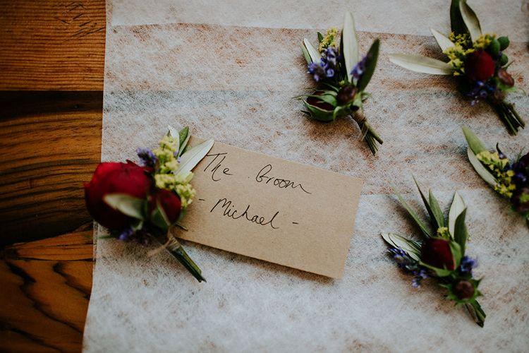 Bright Flower Buttonholes | London Townhall Hotel Wedding | Irene Yap Photography