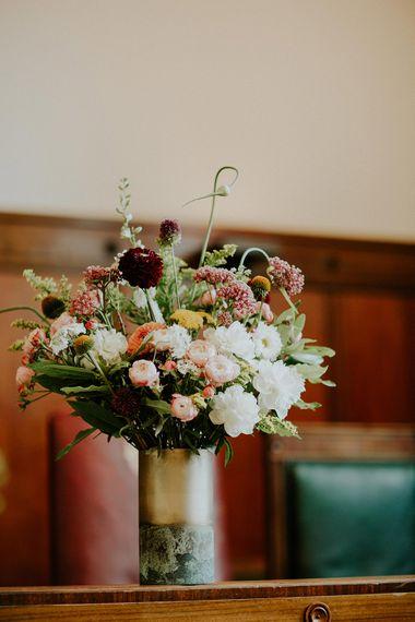 Flower Arrangement | London Townhall Hotel Wedding | Irene Yap Photography