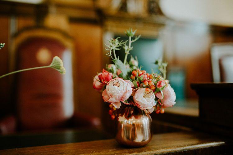 Flower Stems in Vases | London Townhall Hotel Wedding | Irene Yap Photography