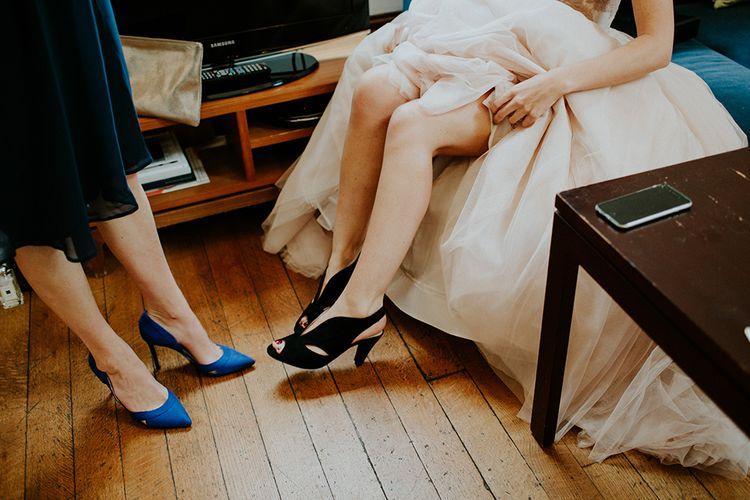 Bridal Preparations | Carvela Comfort Wedding Shoes | London Townhall Hotel Wedding | Irene Yap Photography