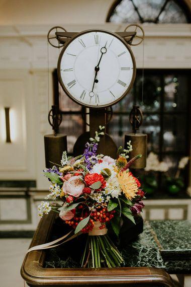 Bright Flower Bouquet | London Townhall Hotel Wedding | Irene Yap Photography