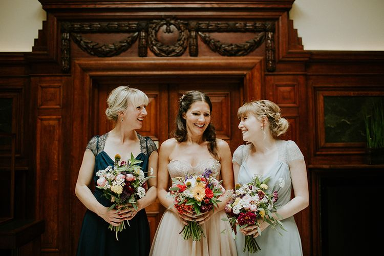 Bride & Bridesmaids in Dresses from ASOS| London Townhall Hotel Wedding | Irene Yap Photography