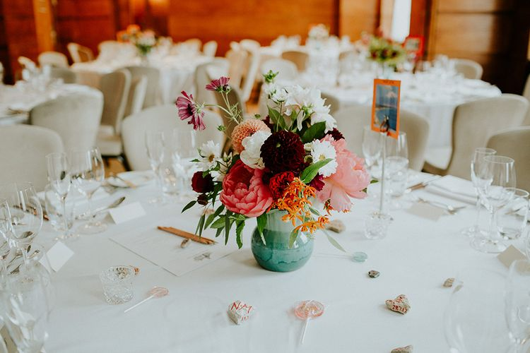 Floral Centrepiece | London Townhall Hotel Wedding | Irene Yap Photography