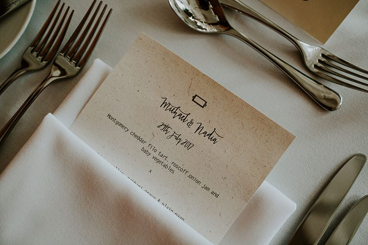 Menu Card | London Townhall Hotel Wedding | Irene Yap Photography
