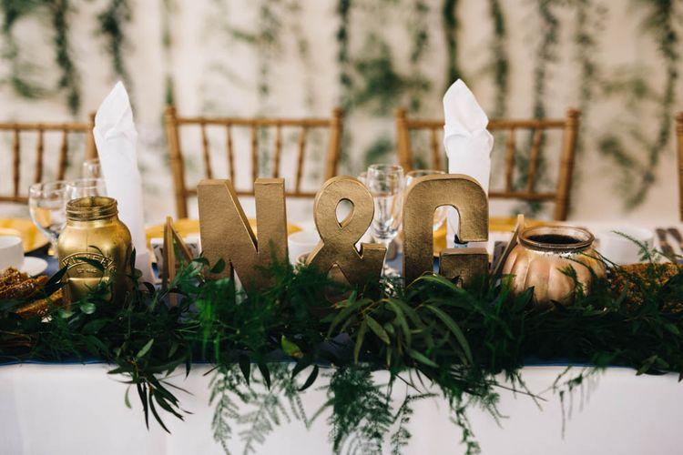 Top Table Greenery Floral Display