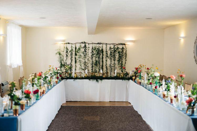 Botanical Wedding Reception Decor
