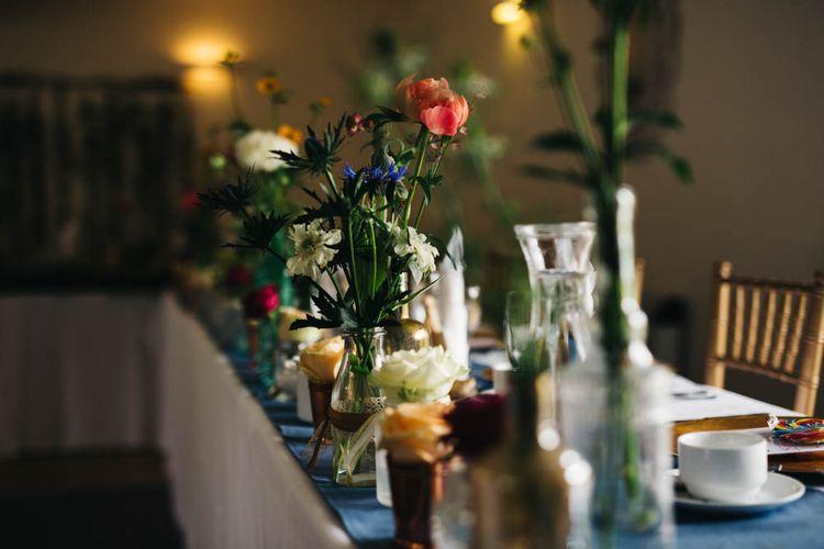 Flower Stems in Mis-match Vases